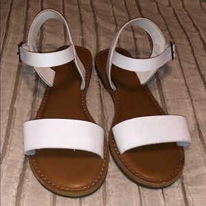 Rampage white sandals (worn once)